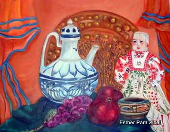Still life with tea pot